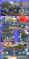 Canterlot Train Station Model: HO scale by lonewolf3878
