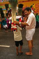 Young Kavadi Bearer by spacedoutkat