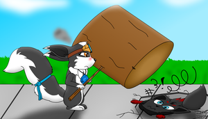 Hey Skunky, Tehe~*SPLAT* -Contest- by Tails230
