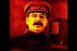 Stalin, in red and yellow by christiansocialism