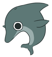 derp dolphin by mudkipbubble
