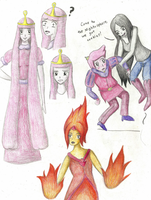 F. Princess, P.B., Marceline and Prince G. by FizzyBubbles
