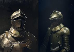 Full body armor studies by Theclockworkpainter