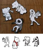 animal cutouts by doriannedutrieux
