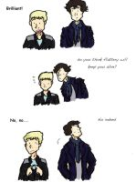 BBC Sherlock and Hobbit crossover by Qoutex