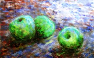 Green Apples in Blue Light by RandomSearcher