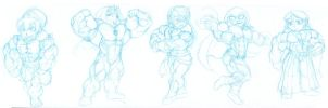 Ridiculously massive muscle chibis 1 by astaroth90