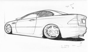 BMW M3 Sketch by darent303