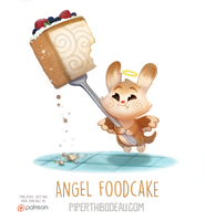 Daily Paint 1559. Angel Foodcake by Cryptid-Creations