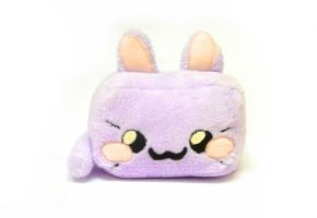 Lilac kawaii cat cube plush - rectangle animals by TenereDelizie