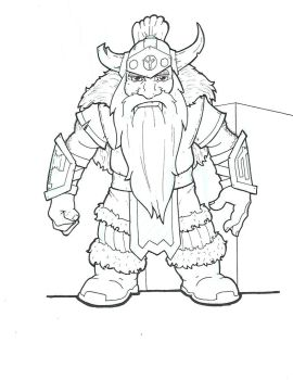 Dwarf Fighter by Baron-Nutsnboltz