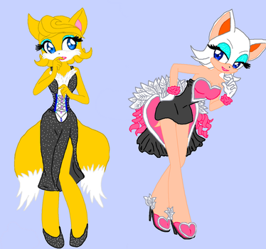Rouge's Tails' Make-over by Devi-no-e