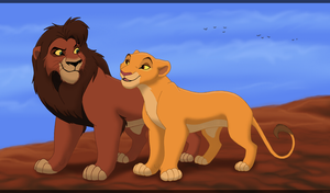 King Kovu and Queen Kiara by HydraCarina