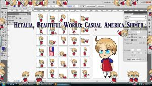 Hetalia, Beautiful World: Casual America Shimeji by TionneDawnstar