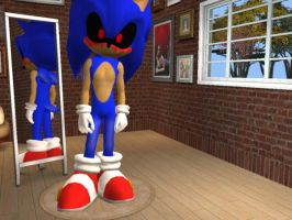 SONIC.EXE for The Sims 2 and The Sims Stories by bluetennant1998