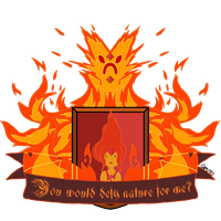 Flame Princess Heraldic Shield by MrCaputo