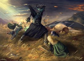 Eowyn and the Nazgul by 1oshuart