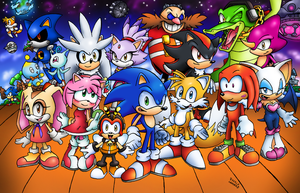 Sonic and The Gang by SonicKnight007