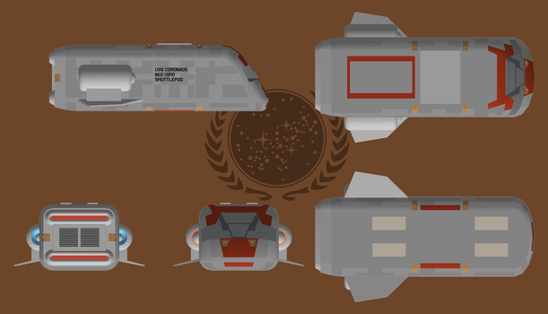 Concord Type shuttlepod ortho by Terranimperial