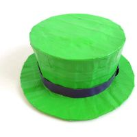 Neon Green Duct Tape Hat by DuckTape-Rose