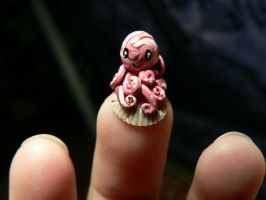 Very Tiny Pink Octopus by BlackMagdalena