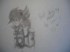 Yusei draw by Nami-v