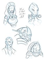 Mass Effect Sketch 2 by Obhan