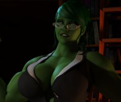 She Hulk Office - Close Up by willdial