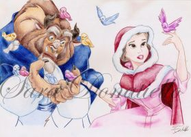 beauty and the beast by saraPortrait