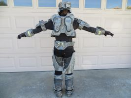 Halo armor project (suit rear) by KevlarKatana
