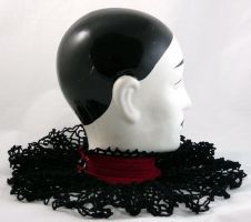 Crocheted Gothic Collar by DeadBackpacks