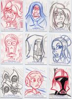 Star Wars-Galactic Files Sketch Cards #6 by mikehampton