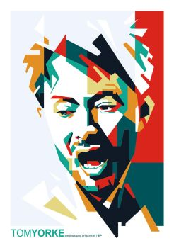 Tom Yorke in WPAP by EDHO by edhoartwork