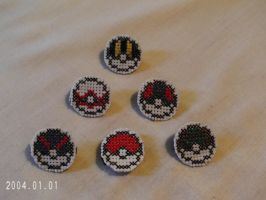 Pokeball Magnets by agorby00