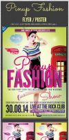 Retro Pinup Fashion Flyer Poster PSD by amrhamza