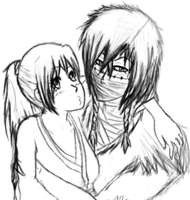 Quick Sketch Of Daemon And Yamira by daddysgirl554