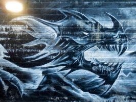 Brick Dragon Mural by ggeudraco