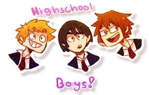 Highschool Boys! by 1WebRainbowe1