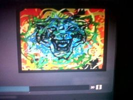 The colourd lion painting by ichigo-26