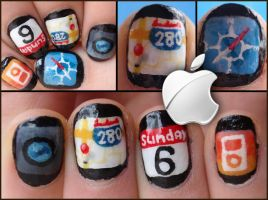 apple apps nails by Ninails