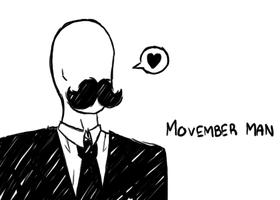 Movemberman Sketch by TheArtistsAreHungry