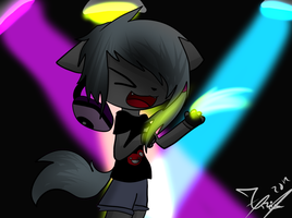 Sound Note Furry Anime Style by KittyPony-Drawings