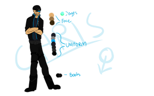 Scarlex References: (Mirus Squad) Chris Ref by ThatAlbinoThing
