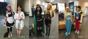 Cosplay Line-up! by polyatomic-irony