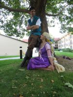 Rapunzel and Flynn - Us against the world by xsakichanx