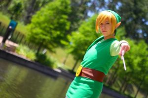 Conducting the Wind - Toon Link by nekomatalee