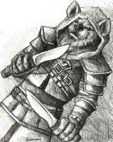 Free Art Fridays - Male Gnoll Rogue by OurMassHysteria