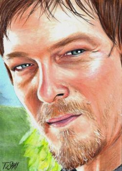 Daryl Dixon - The Walking Dead Sketch by Dr-Horrible