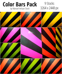 Color Bars Pack - 9 Stocks by manuelvelizan