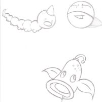 Pokemon sketches by cookie-stealer22